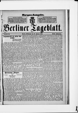 Berliner Tageblatt und Handels-Zeitung vom 20.01.1892