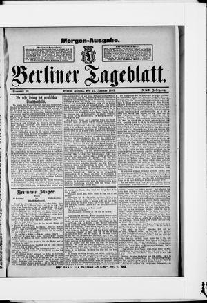 Berliner Tageblatt und Handels-Zeitung vom 22.01.1892
