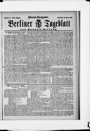 Berliner Tageblatt und Handels-Zeitung on Jan 23, 1892
