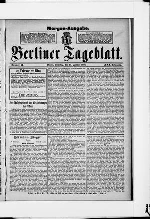 Berliner Tageblatt und Handels-Zeitung vom 24.01.1892