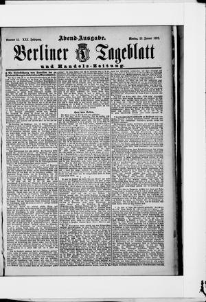 Berliner Tageblatt und Handels-Zeitung on Jan 25, 1892