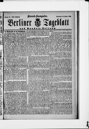 Berliner Tageblatt und Handels-Zeitung vom 28.01.1892