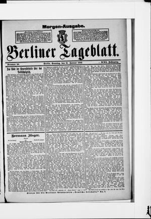 Berliner Tageblatt und Handels-Zeitung vom 31.01.1892