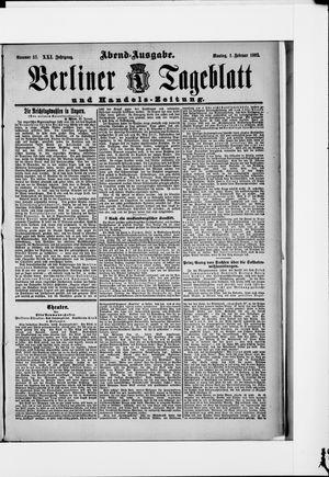 Berliner Tageblatt und Handels-Zeitung vom 01.02.1892