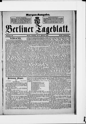 Berliner Tageblatt und Handels-Zeitung vom 02.02.1892