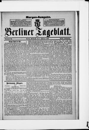 Berliner Tageblatt und Handels-Zeitung vom 03.02.1892