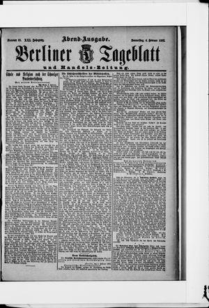 Berliner Tageblatt und Handels-Zeitung vom 04.02.1892