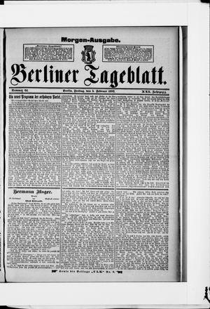 Berliner Tageblatt und Handels-Zeitung on Feb 5, 1892