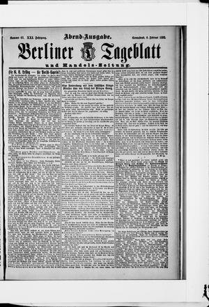Berliner Tageblatt und Handels-Zeitung vom 06.02.1892