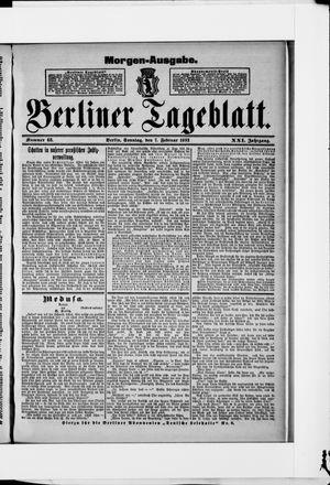 Berliner Tageblatt und Handels-Zeitung vom 07.02.1892