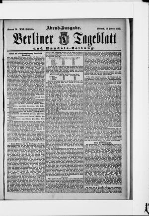 Berliner Tageblatt und Handels-Zeitung vom 10.02.1892