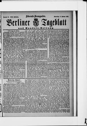 Berliner Tageblatt und Handels-Zeitung vom 11.02.1892