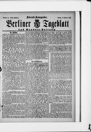 Berliner Tageblatt und Handels-Zeitung vom 12.02.1892