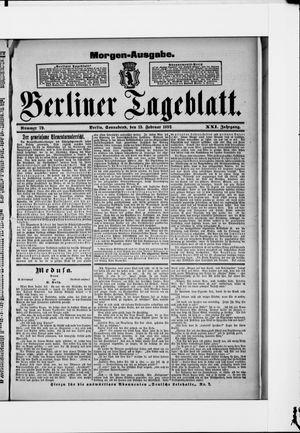 Berliner Tageblatt und Handels-Zeitung vom 13.02.1892