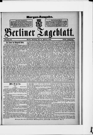 Berliner Tageblatt und Handels-Zeitung vom 14.02.1892