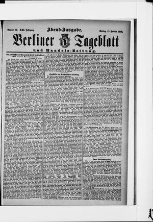 Berliner Tageblatt und Handels-Zeitung vom 15.02.1892