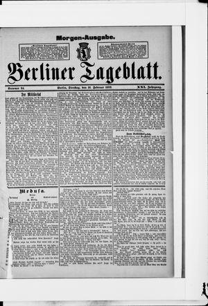 Berliner Tageblatt und Handels-Zeitung vom 16.02.1892