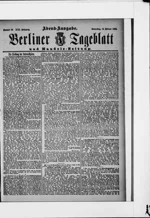 Berliner Tageblatt und Handels-Zeitung vom 18.02.1892