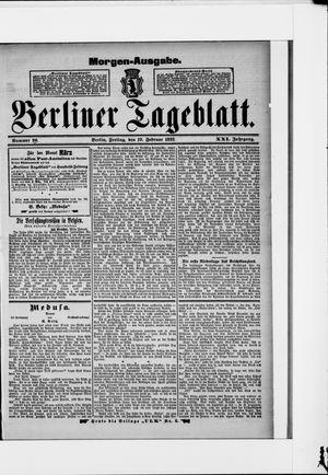 Berliner Tageblatt und Handels-Zeitung vom 19.02.1892