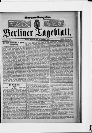 Berliner Tageblatt und Handels-Zeitung vom 24.02.1892