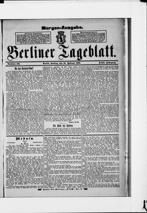 Berliner Tageblatt und Handels-Zeitung vom 26.02.1892