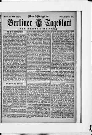 Berliner Tageblatt und Handels-Zeitung vom 29.02.1892