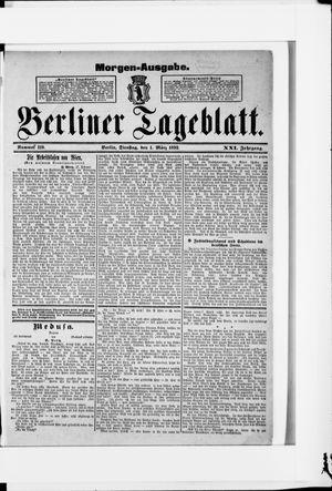 Berliner Tageblatt und Handels-Zeitung vom 01.03.1892