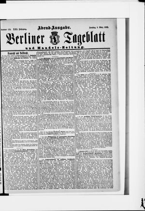 Berliner Tageblatt und Handels-Zeitung vom 08.03.1892