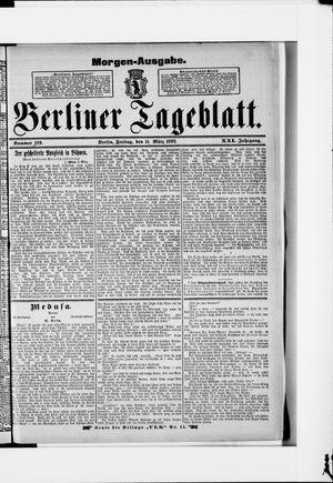 Berliner Tageblatt und Handels-Zeitung vom 11.03.1892