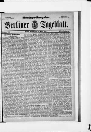 Berliner Tageblatt und Handels-Zeitung vom 14.03.1892
