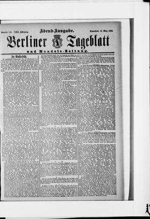 Berliner Tageblatt und Handels-Zeitung vom 19.03.1892