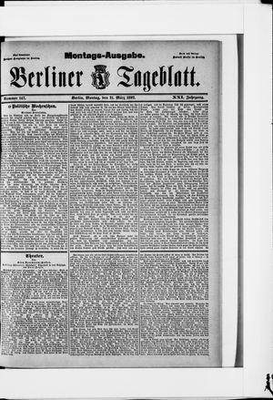 Berliner Tageblatt und Handels-Zeitung on Mar 21, 1892