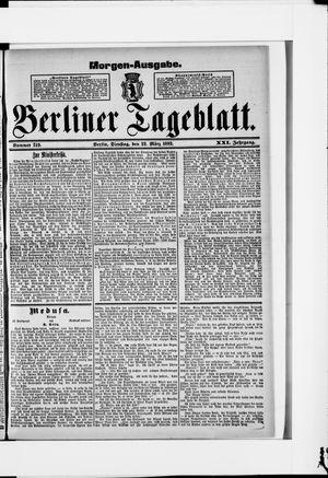 Berliner Tageblatt und Handels-Zeitung vom 22.03.1892
