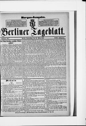 Berliner Tageblatt und Handels-Zeitung vom 24.03.1892