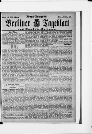 Berliner Tageblatt und Handels-Zeitung vom 30.03.1892