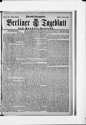 Berliner Tageblatt und Handels-Zeitung vom 01.04.1892