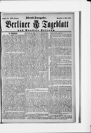 Berliner Tageblatt und Handels-Zeitung vom 02.04.1892