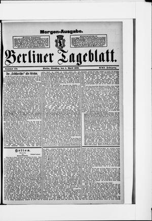 Berliner Tageblatt und Handels-Zeitung on Apr 5, 1892