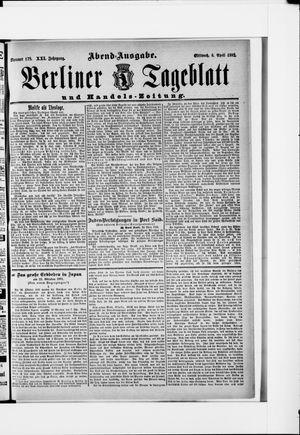 Berliner Tageblatt und Handels-Zeitung vom 06.04.1892