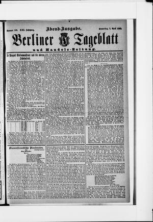 Berliner Tageblatt und Handels-Zeitung vom 07.04.1892