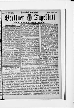 Berliner Tageblatt und Handels-Zeitung vom 08.04.1892