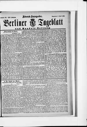 Berliner Tageblatt und Handels-Zeitung vom 09.04.1892