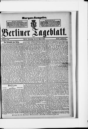 Berliner Tageblatt und Handels-Zeitung vom 10.04.1892