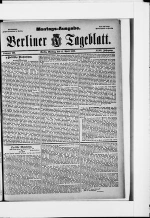 Berliner Tageblatt und Handels-Zeitung vom 11.04.1892