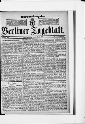 Berliner Tageblatt und Handels-Zeitung vom 12.04.1892