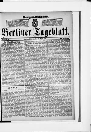 Berliner Tageblatt und Handels-Zeitung vom 13.04.1892