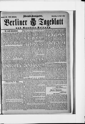 Berliner Tageblatt und Handels-Zeitung vom 14.04.1892
