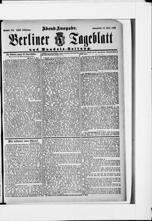 Berliner Tageblatt und Handels-Zeitung vom 16.04.1892