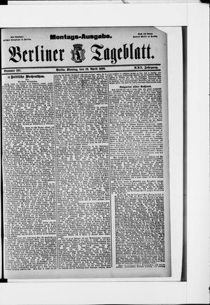 Berliner Tageblatt und Handels-Zeitung vom 18.04.1892