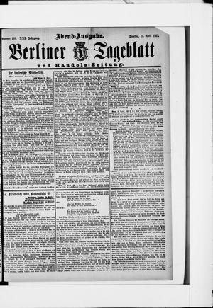 Berliner Tageblatt und Handels-Zeitung vom 19.04.1892